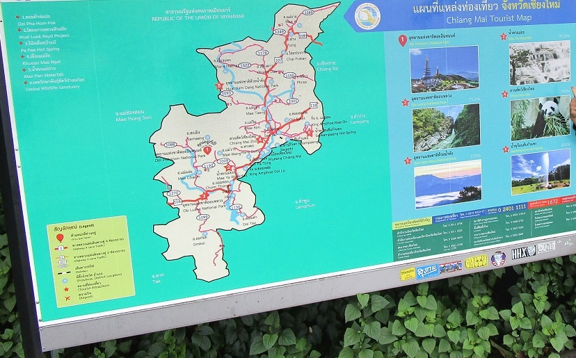 Map at Doi mountain